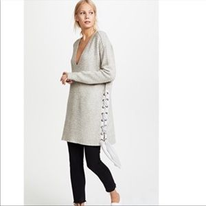 Free People Heart It Laces Gray Sweater Size XS
